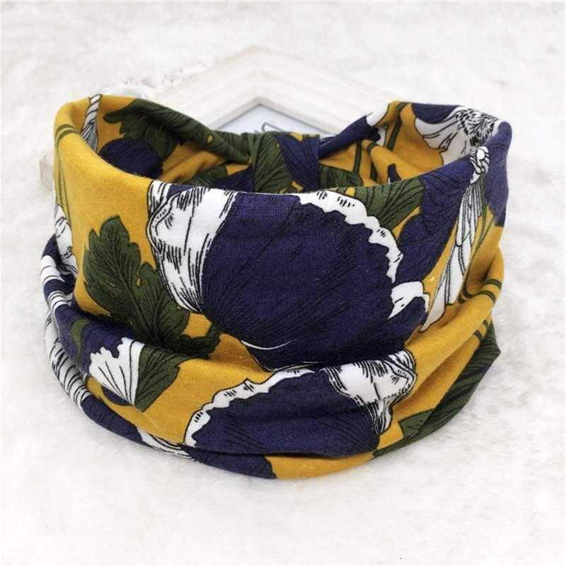 Flower Women Headband Elastic Hair For Boho Knot Turban