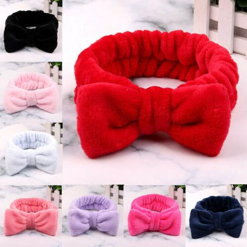 For Pure Coral Bow Hair Band Makeup Elastic