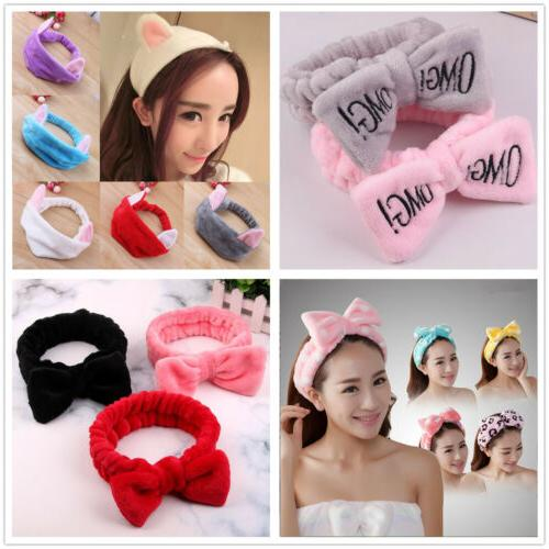 For Coral Bow Hair Band Elastic