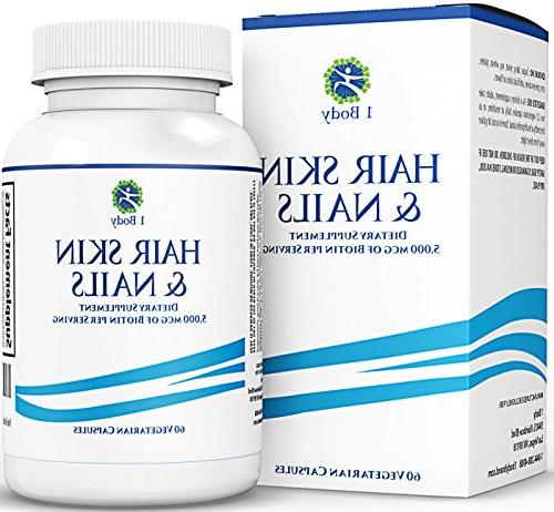 1 Body - Hair, Skin, and Nails Supplement - 5000 Mcg of Biot
