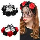 Halloween Womens Rose Flower Lace Face Mask Veils Xmas Party