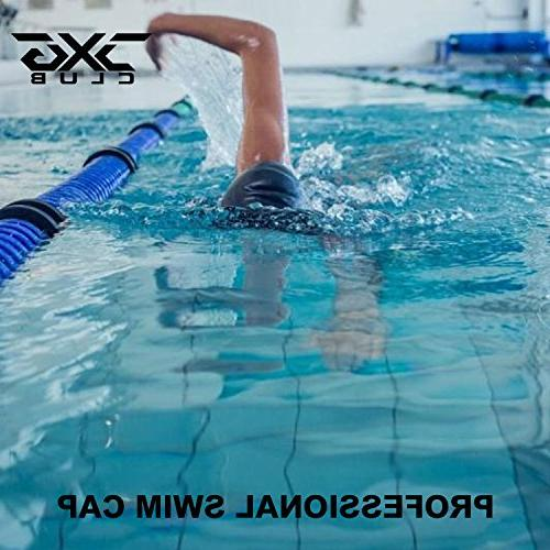 CXGCLUBE Extra Hair Silicone Bathing & Swimming Pool Caps,Designed for Women Men Afro Keeps Hair Clean