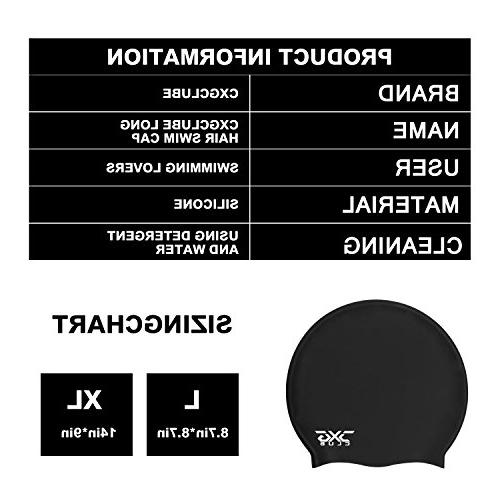 CXGCLUBE Extra Large Hair Cap,Waterproof Silicone Bathing & Caps,Designed for Women Men Thick, Afro Braided Hair, Keeps Hair Clean