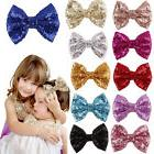 Lovely Baby Girl Sequin Fashion Handmade Hair Bow With Clip