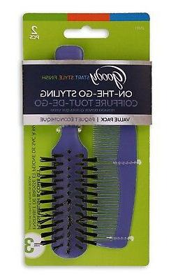 Goody On-The-Go Styling, , Hair Brush and Comb.