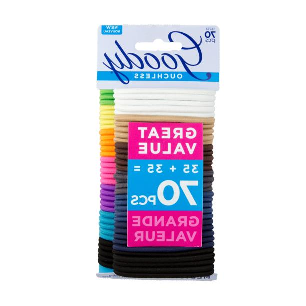 GOODY OUCHLESS HAIR TIES, NO METAL HAIR ELASTICS, ASSORTED C