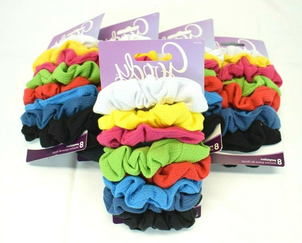 Goody - Ouchless Ribbed Hair Scrunchies/Wraps - 8 Pk, Assort