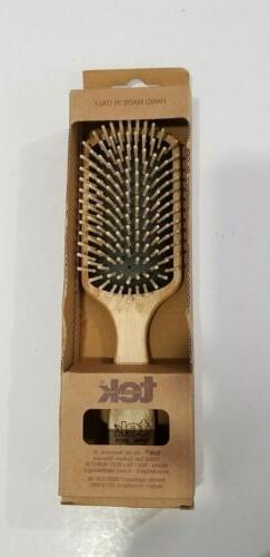 PADDLE Hairbrush In ASH WOOD With Regular Pins Hair Care Bru