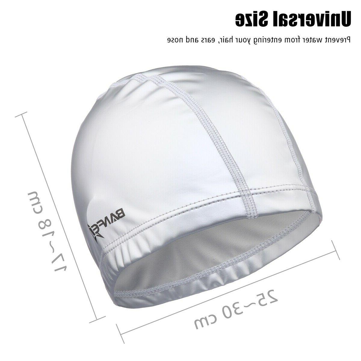 Solid Swim Caps for Long Hair Short Comfortable