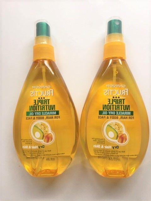Garnier Triple Nutrition Miracle Dry Oil, For Hair,Body & Fa