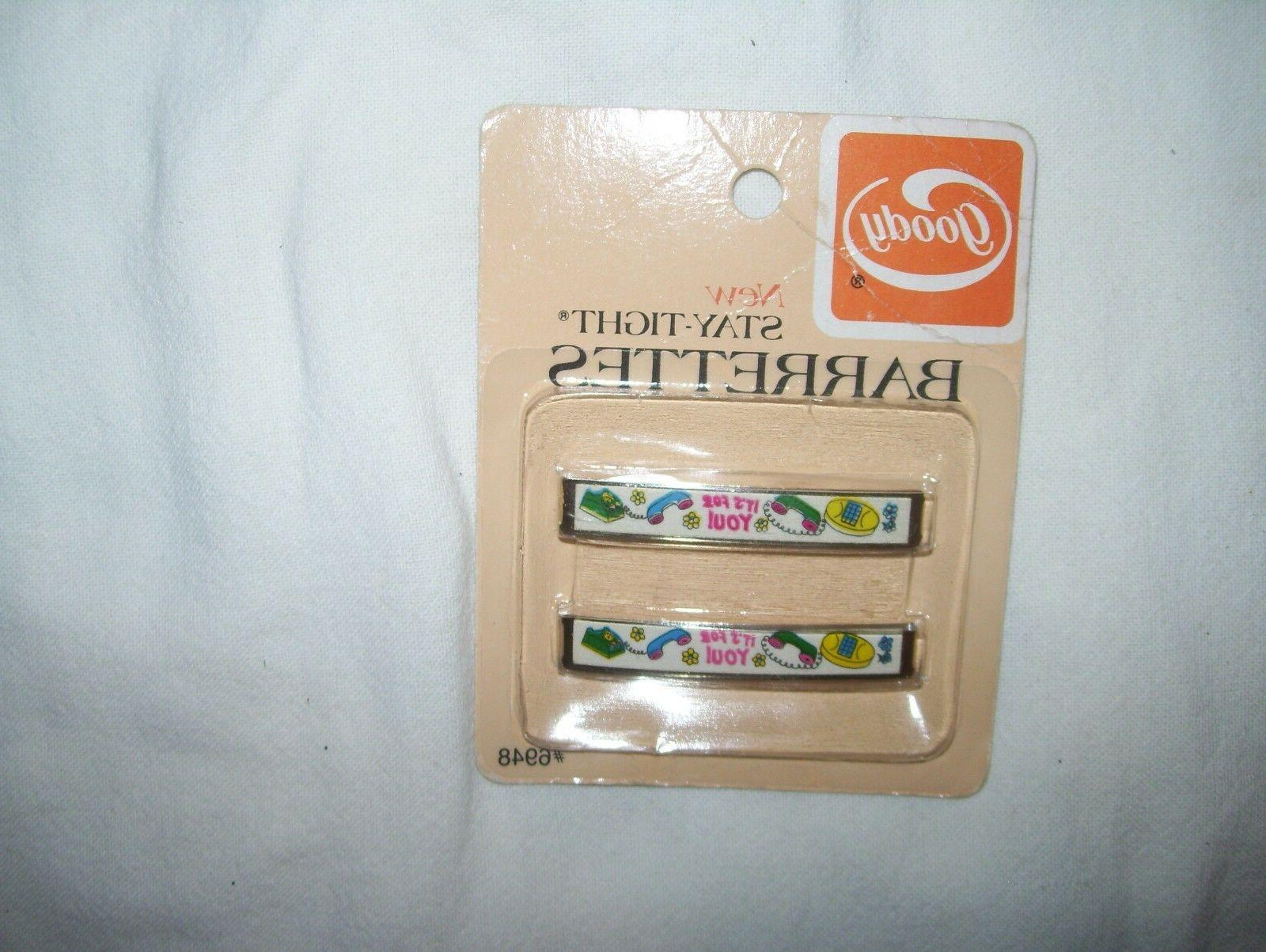 Vintage Barrettes Pack of - For ! Phone Telephone