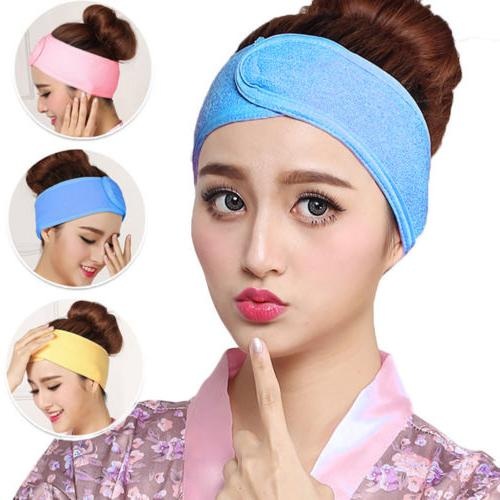 Women Hair Wrap Wide Headband Spa For Sport Make Up