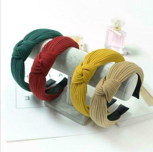 Womens Turban Fashion Solid Twisted Casual Knotted Band