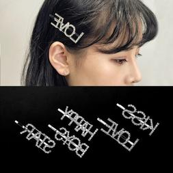 Letter Hair Clips for Women Girls Barrettes Hair Combs Pins