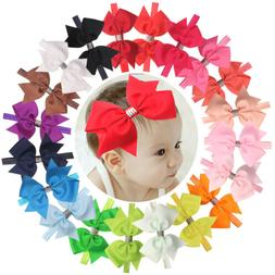 Lots 6 inch Hair Bows Baby Girls Headbands for Infant Newbor