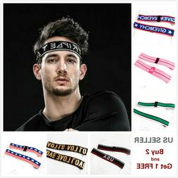 Men Women Sports Yoga Headband Stretch Hairband Elastic Hair