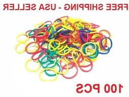 new 100 small multi color mix rubber