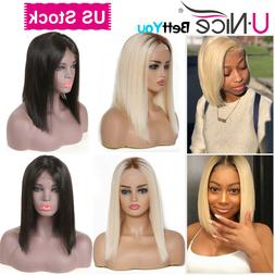 UNice Ombre Blonde Lace Front Human Hair Wigs For Women Stra
