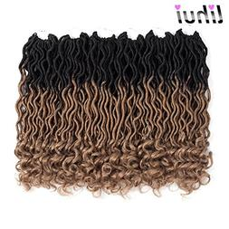 Lihui 6Pcs/Lot Ombre Goddess Locs Crochet Hair Faux Locs Cro