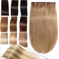 One Piece Real Clip in Remy Human Hair Extensions Full Head