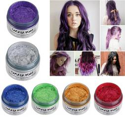 Organic Hair Color Wax Dye Unisex Temporary Modeling Cream C