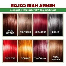 Organic Natural Henna Hair Color / Dye With Free Hair Brush,