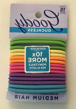 Goody Ouchless Hair Tie for Medium Hair 15 count no metal