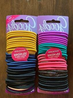 GOODY OUCHLESS No Metal Hair Ties Elastics Pony Tail 60 Coun