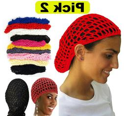 PICK 2 Thick Hair Net French Mesh Fish Net Hairnet Hair net