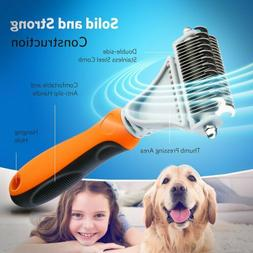 Pro Dog Brush for Shedding Cat Grooming Comb Tools Hair Pet