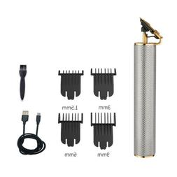 pro mens hair clipper set siver electric