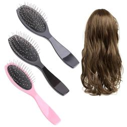 Professional Anti Static Steel Comb Brush For Wig Hair Exten
