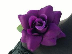 PURPLE FLOWER HAIR CLIP FOR MEXICAN FIESTA,5 DE MAYO,DAY OF