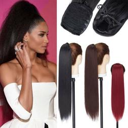 Real Thick Ponytail For Human Hair Extension Kinky Yaki 22In