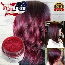 Red Color Hair Wax Mud Dye Cream Temporary Wash-Out Hilight