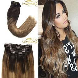 Googoo Remy Hair Extensions Clip in Human Hair Extensions Om