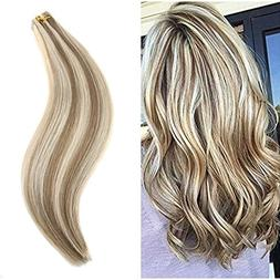 Ugeat 16 inch Remy Tape in Hair Extensions Human Hair Real H