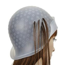 Reusable Silicone Dye Hat Cap for Hair Color Highlighting Ha