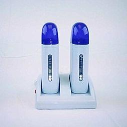 Roll-on Double Depilatory Wax Cartridge LED Heater Warmer fo