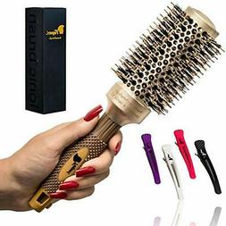 Round Brush Hair Brushes For Blow Drying With Natural Boar B