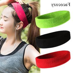 Running Headband Stretch Cotton SweatBand Yoga <font><b>Hair