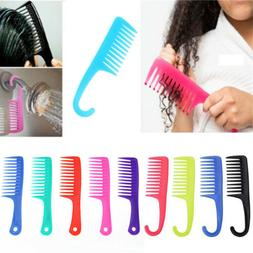 Salon Hairdressing Hanging Wide Tooth Shower Brush Comb for