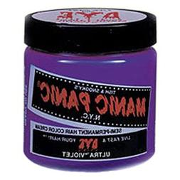 MANIC PANIC Semi-Permanent Hair Color Cream Ultra Violet 4oz