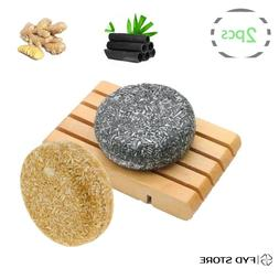 Shampoo &Conditioner Ginger Charcoal Bar Treatment For Oily