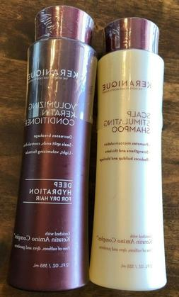 Keranique Shampoo and Conditioner Set for Hair Growth and Th