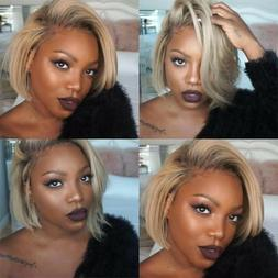 Wig with Baby Hair Human Hair Full End Short Bob Wigs For Bl