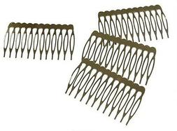 Silver Metal Hair Combs with Teeth for hair accessories Pack