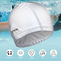 Solid Unisex Swim Caps for Long Hair & Short Hair, Comfortab