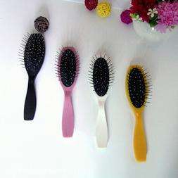 Steel Tooth Plastic Wood Comb Wig Hair Brush Anti-Static For
