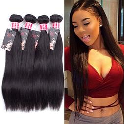 Straight Brazilian Virgin Hair 4 Bundles 12 14 16 18inch Unp